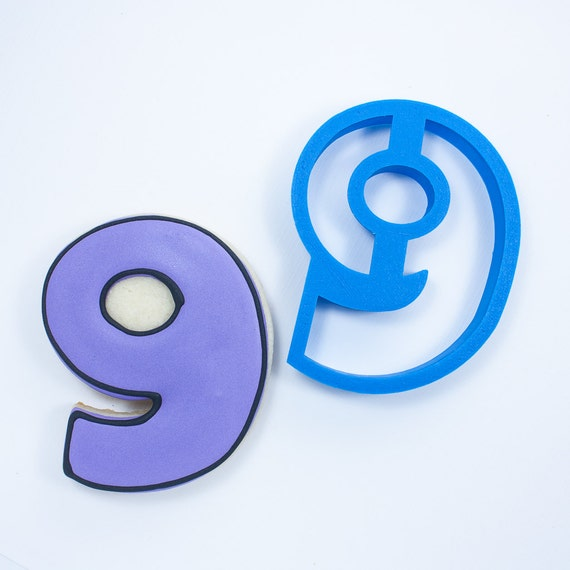 Number Nine Cookie Cutter