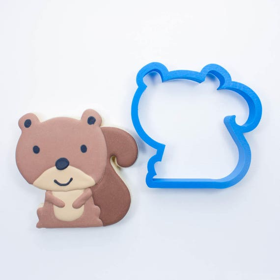 Woodland Squirrel Cookie Cutter | Animal Cookie Cutter | Woodland Cookie Cutters | Custom Cookie Cutters | Unique Cookie Cutters | 3D Cookie