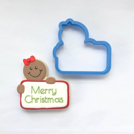 Chubby Gingerbread Girl Plaque Cookie Cutter