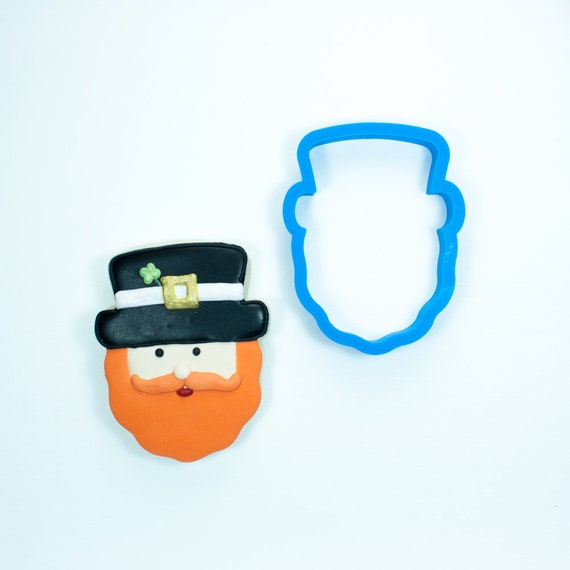 Leprechaun Cookie Cutter | Leprechaun Head Cookie Cutter | St Patricks Cookie Cutter | Irish Cookie Cutter | Frosted.co
