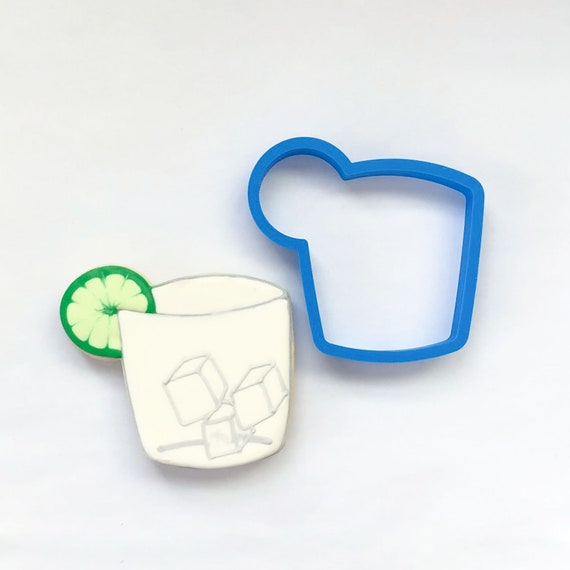 Cocktail Glass Cookie Cutter | Glass Cookie Cutter | Drink Cookie Cutter | Summer Cookie Cutter | Fathers Day Cutter | Frosted Cutters