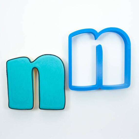 Letter N Cookie Cutter | Alphabet Cookie Cutters | Letter Cookie Cutters | ABC Cookie Cutters | Large Alphabet Cookie Cutters