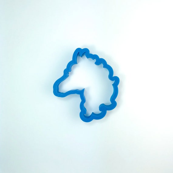 Fancy Horse Head Cookie Cutter | Horse Cookie Cutter | Horseshoe Cookies | Animal Cookie Cutter | Frosted Cutter