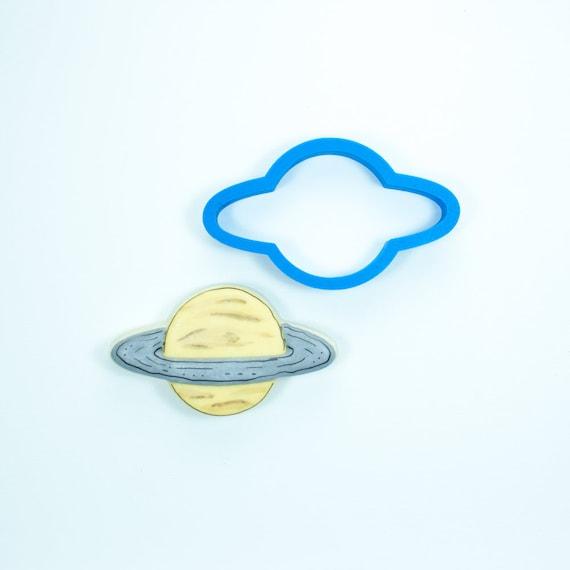 Saturn Cookie Cutter | Plaque Cookie Cutters | Planet Cookie Cutters | 3D Printed Cookie Cutter | Fondant Cutters | Unique Cutters