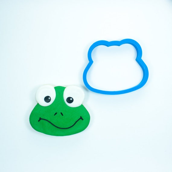 Frog Head Cookie Cutter | Frog Head Fondant Cutter | Custom Cookie Cutters | Unique Cookie Cutter | 3D Cookie Cutters | Mini Cutters