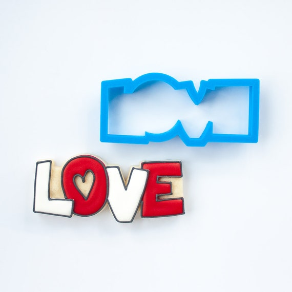 Love Cookie Cutter | Valentine Cookie Cutter | Valentines Cookie Cutter | Unique Cookie Cutters | 3D Cookie Cutters | Small Cookie Cutters