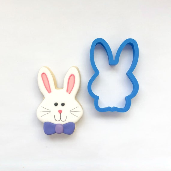 Bunny with Bowtie Cookie Cutter | Easter Bunny Cookie Cutter | Easter Cookie Cutter | Unique Cookie Cutter | Fondant Cutter | Mini Cutter