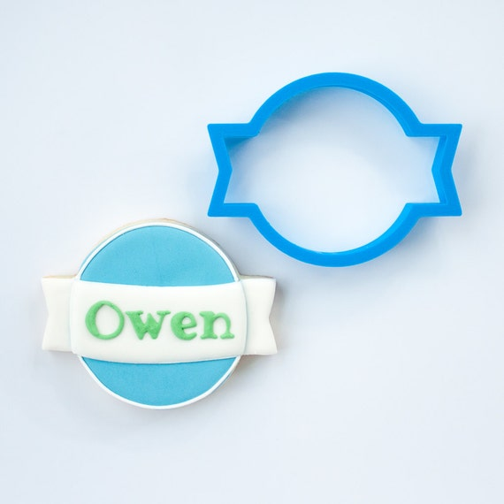 Plaque Cookie Cutter | Owen Plaque Cookie Cutter | 3D Cookie Cutter | Mini Cookie Cutter | Clay Cutter | Fondant Cutter | FrostedCo