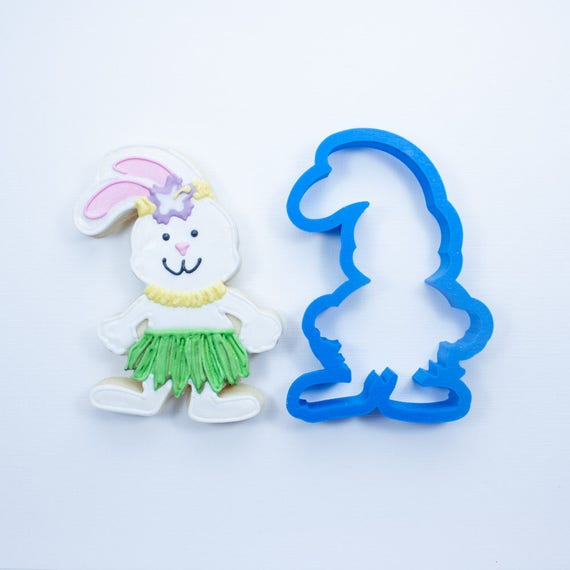 Hula Bunny Cookie Cutter