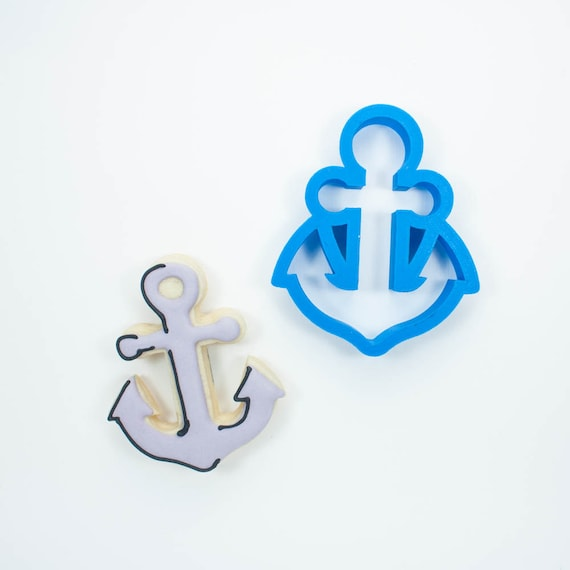 Anchor Cookie Cutter | Summer Cookie Cutter | Ocean Cookies | Beach Cookie Cutter | Nautical Cookie Cutters | Frosted Cutters