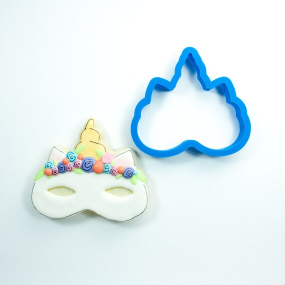 Unicorn Mask Cookie Cutter | Birthday Cookie Cutter | Cake Cookie Cutter | Mini Cookie Cutter | Unique Cookie Cutters