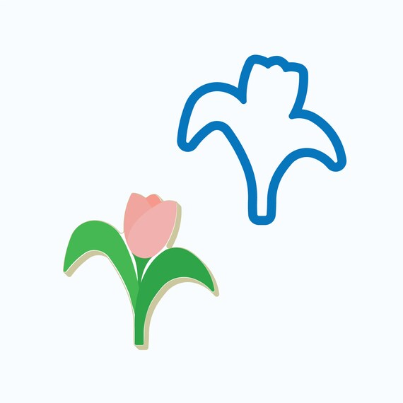 Tulip Cookie Cutter | Whimsy Tulip Cookie Cutter | Spring Cookie Cutters | Easter Cookie Cutters | Flower Cookie Cutter | FrostedCo