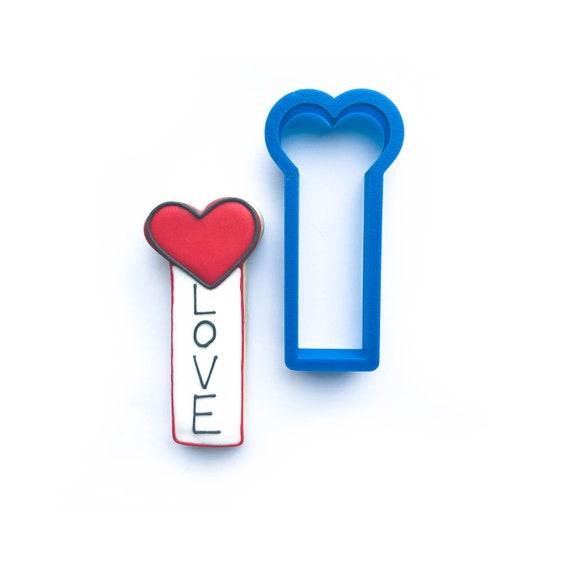 Heart Cookie Cutter | Vertical Heart Cookie Stick Cookie Cutter | Valentine Cookie Cutter | Valentines Cookie Cutter | Unique Cookie Cutters