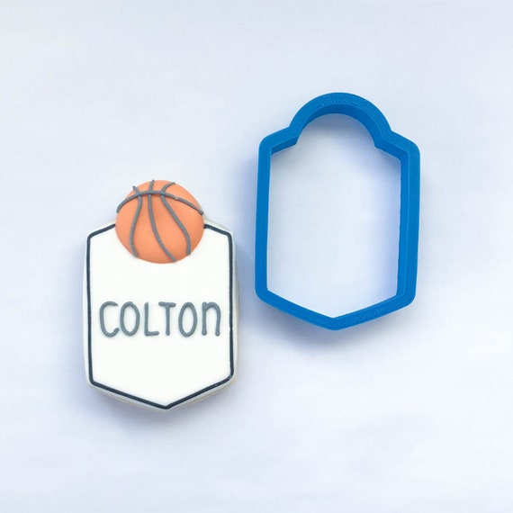 The Colton Plaque Cookie Cutter | Plaque Cookie Cutters | 3D Cookie Cutters