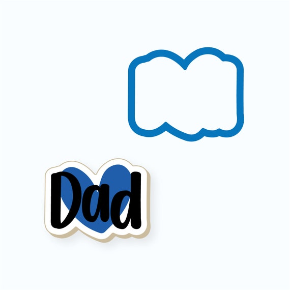 Dad Cookie Cutter | Dad Plaque Cookie Cutter | Father's Day Cookie Cutter | Plaque Cookies | Father Cookies | Dad Cookies | Frosted