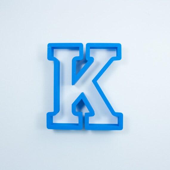 Block Letter K Cookie Cutter | Alphabet Cookie Cutters | Letter Cookie Cutters | ABC Cookie Cutters | Block Letters Alphabet Cookie Cutters
