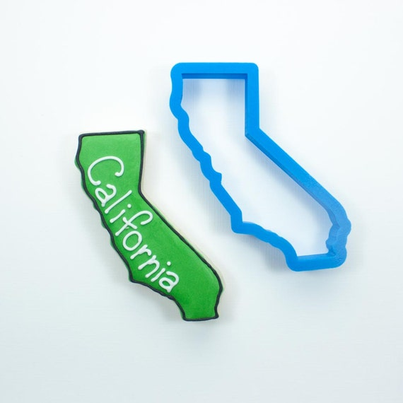 California Cookie Cutter | State Cookie Cutters | State Shaped Cookie Cutters | USA Cookie Cutters | 3D Cookie Cutters