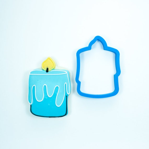 Chubby Candle Cookie Cutter | Birthday Cookie Cutter | Candle Cookie Cutter | Mini Candle Cookie Cutter | Unique Cookie Cutters