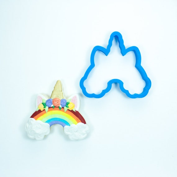 Rainbow Unicorn Cookie Cutter | Birthday Cookie Cutter | Rainbow Cookie Cutter | Mini Cookie Cutter | Unique Cookie Cutters