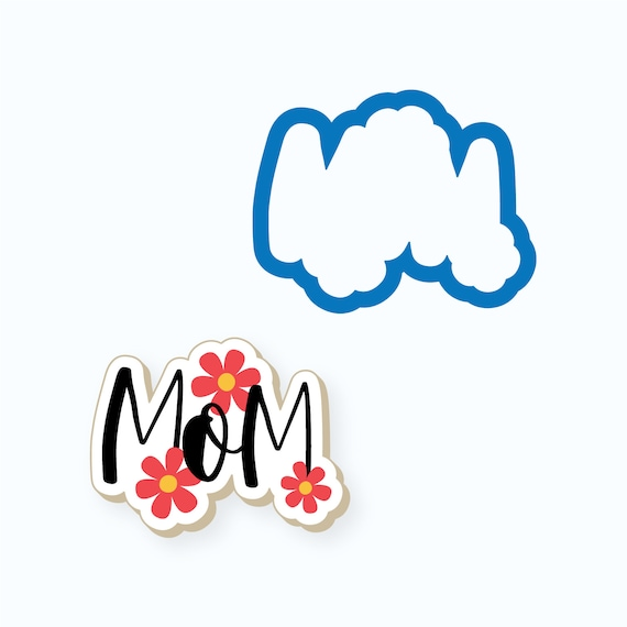 Mom Cookie Cutter | Mom Plaque Cookie Cutter | Mother's Day Cookie Cutter | Plaque Cookies | Mother Cookies | Mom Cookies | Frosted