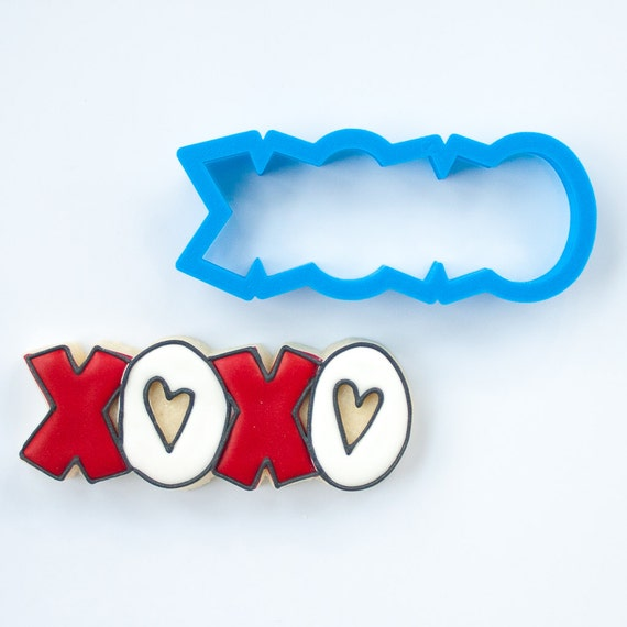 XOXO Cookie Cutter | XO Cookie Cutter | Love Cookie Cutter | Valentines Cookie Cutter | Heart Cookie Cutter | Heart Shaped Cookie Cutter