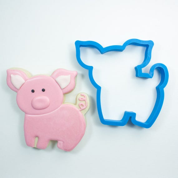 Chubby Pig Cookie Cutter | Pig Cookie Cutters | Farm Animal Cookie Cutters | Birthday Cookie Cutters | Animal Cookie Cutters