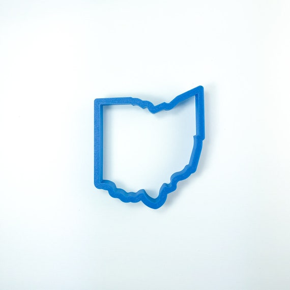 Ohio Cookie Cutter | State Cookie Cutters | State Shaped Cookie Cutters | USA Cookie Cutters | Frosted