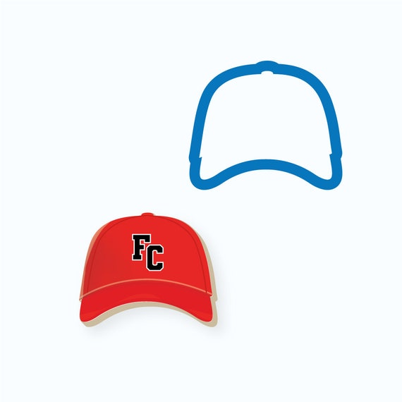 Baseball Cookie Cutter | Baseball Hat Cookie Cutter | Hat Cookie Cutter | FrostedCo