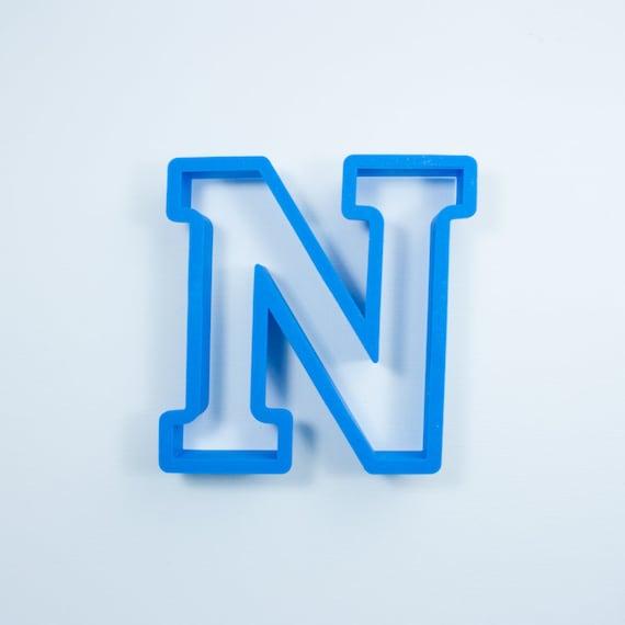Block Letter N Cookie Cutter | Alphabet Cookie Cutters | Letter Cookie Cutters | ABC Cookie Cutters | Block Letters Alphabet Cookie Cutters