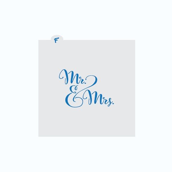 Wedding Cookie Stencil | Bridal Shower Cookie Stencil | Mr & Mrs Cookie Stencil | Cookie Stencil | Wedding Cookie | Bridal Shower Cookie