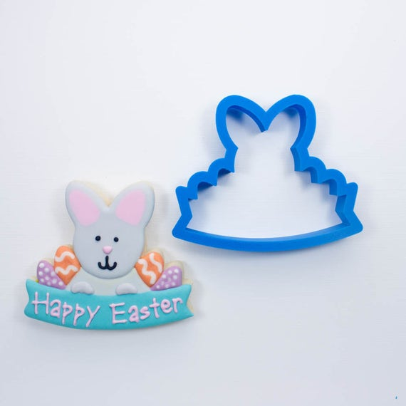 Easter Bunny Plaque Cookie Cutter | Easter Bunny Cookie Cutters | Easter Cookie Cutters | Plaque Cookie Cutters | Mini Cookie Cutters