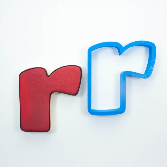 Letter R Cookie Cutter | Alphabet Cookie Cutters | Letter Cookie Cutters | ABC Cookie Cutters | Large Alphabet Cookie Cutters