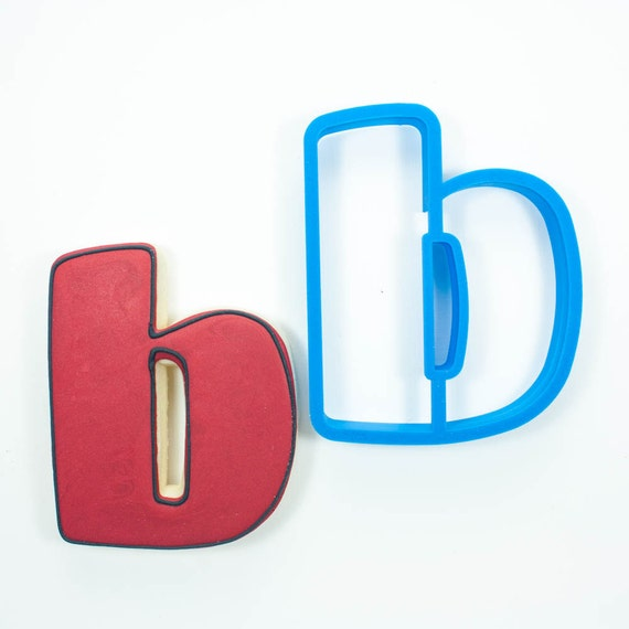 Letter B Cookie Cutter | Alphabet Cookie Cutters | Letter Cookie Cutters | ABC Cookie Cutters | Large Alphabet Cookie Cutters