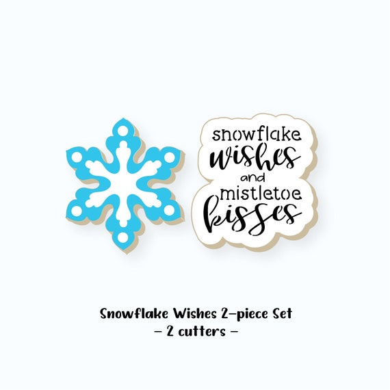 Christmas Cookie Cutters | Snowflake Wishes Cookie Cutters | Snowflake Wishes Cookie Cutter Set | Snowflake Cookie Cutter | FrostedCo