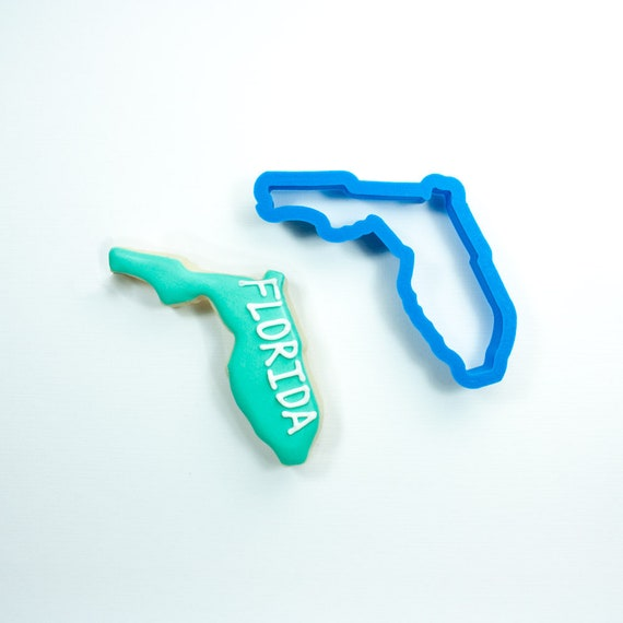 Florida Cookie Cutter | State Cookie Cutters | State Shaped Cookie Cutters | USA Cookie Cutters | Frosted