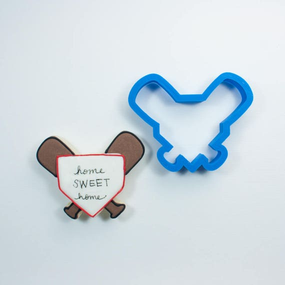 Baseball Bats with Home Plate Cookie Cutter | Baseball Cookie Cutter | Home Plate Cookie Cutter | Baseball Mom | Baseball Cookies