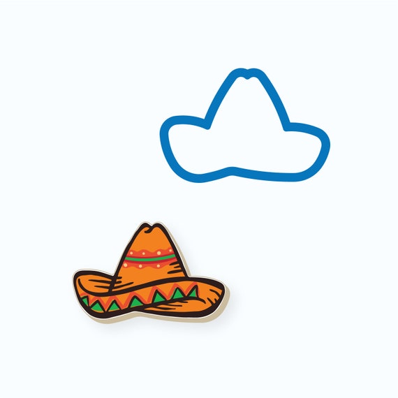 Sombrero Cookie Cutter | Cinco De Mayo Cookie Cutter | Fiesta Cookie Cutter | Unique Cookie Cutter | Mini Cookie Cutter | FrostedCo