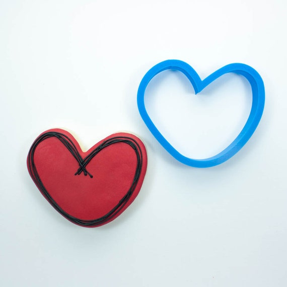 Rounded Heart Cookie Cutter | Heart Shaped Cookie Cutter | Heart Cookie Cutters | Mini Heart Cookie Cutter | Small Heart Cookie Cutter