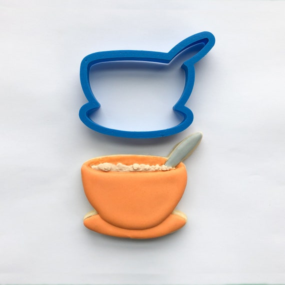 Soup Bowl Cookie Cutter | Cereal Bowl Cookie Cutter | Food Cutters | Bowl with Spoon Cutter | Bowl Cookie Cutter | Frosted Cutters