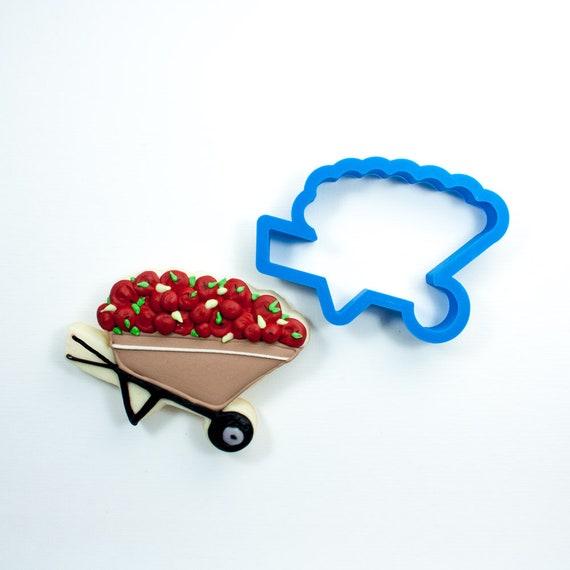 Wheelbarrow Cookie Cutter | Fondant Cutter | Unique Cookie Cutter | 3D Printed Cookie Cutter | Spring Cookie Cutter | Garden Cookie Cutter