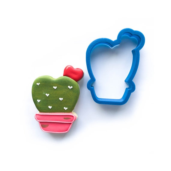 Valentine's Cactus Cookie Cutter | Cactus Cookie Cutter | Valentine Cookie Cutter | Valentines Cookie Cutter | Unique Cookie Cutters