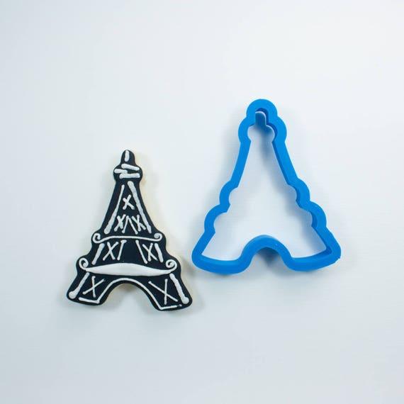 Chubby Eiffel Tower Cookie Cutter | Arc de Triomphe Cookie Cutter | Paris Cookie Cutter | French Cookie Cutter | Travel Cookie Cutters