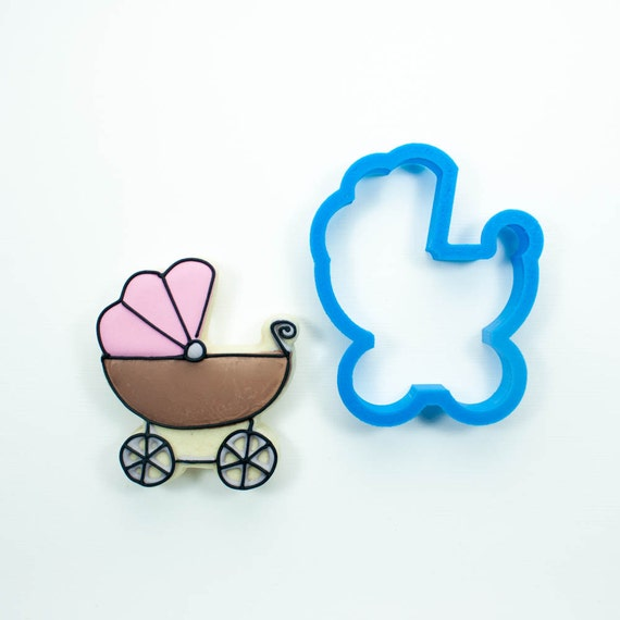 Baby Carriage Cookie Cutter | Baby Stroller Cookie Cutter | Baby Shower Cookie Cutters | Baby Shaped Cookie Cutter | 3d Cookie Cutters