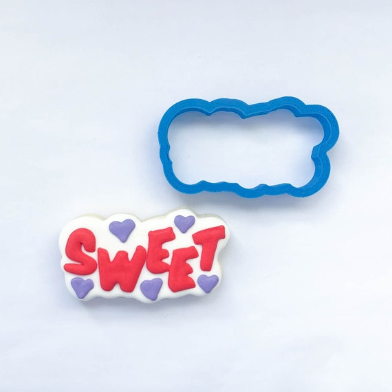Sweet Plaque Cookie Cutter | Heart Cookie Cutter | Valentine Cookie Cutter | Valentines Cookie Cutter | Unique Cookie Cutters