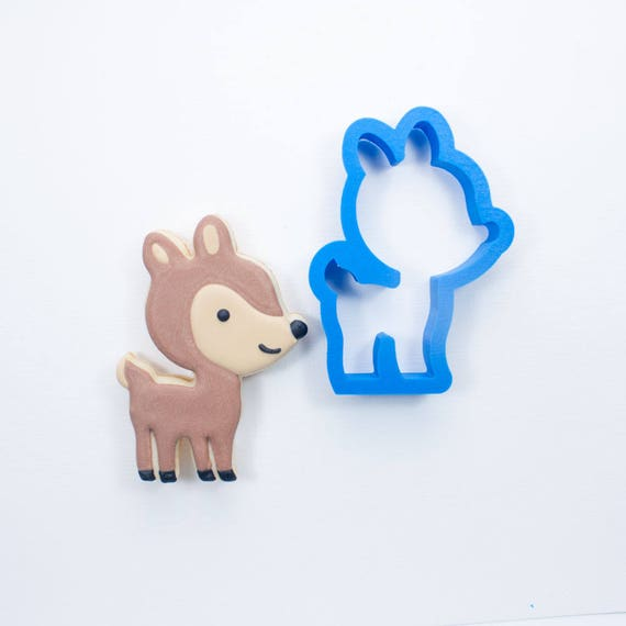 Woodland Deer Cookie Cutter |  Woodland Cookie Cutters | Custom Cookie Cutters | Unique Cookie Cutters | Deer Cookie Cutter
