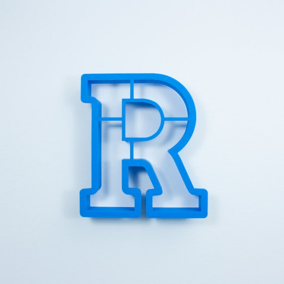 Block Letter R Cookie Cutter | Alphabet Cookie Cutters | Letter Cookie Cutters | ABC Cookie Cutters | Block Letters Alphabet Cookie Cutters