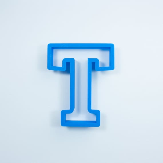 Block Letter T Cookie Cutter | Alphabet Cookie Cutters | Letter Cookie Cutters | ABC Cookie Cutters | Block Letters Alphabet Cookie Cutters