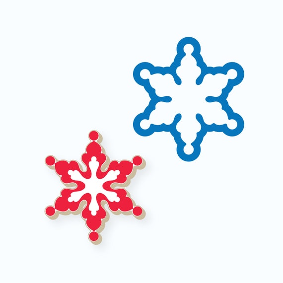 Snowflake Cookie Cutter | Dots Snowflake Cookie Cutter | Winter Cookie Cutter | Christmas Cookie Cutter | FrostedCo