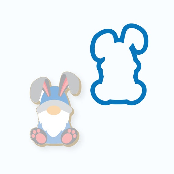 Easter Cookie Cutter | Bunny Gnome Cookie Cutter | Gnome Cookie Cutter | Bunny Cookie Cutter | Easter Gnome Cookie Cutter | FrostedCo