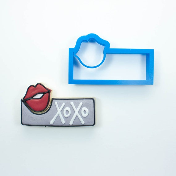 Lips Cookie Stick Cutter (Imprint Version) | Lips Cookie Cutter | Valentine Cookie Cutter | Valentines Cookie Cutter | Unique Cookie Cutters